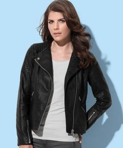 Active Biker Jacket for women in Black Opal