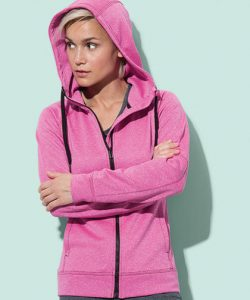 Active Performance Jacket for women in Coral (Heather)