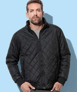 Active Quilted Blouson in Black Opal