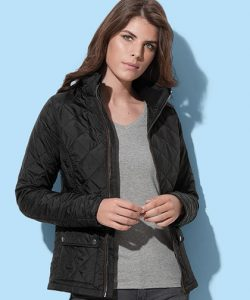 Active Quilted Jacket for women in Black Opal