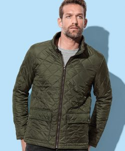 Active Quilted Jacket in Black Opal