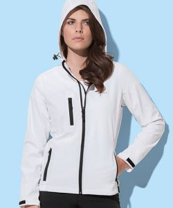 Active Softest Shell Hooded Jacket for women in Black Opal