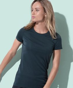 Active Sports-T Crew Neck for women in Black Opal