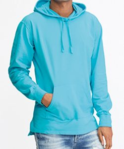 Adult French Terry Scuba Hood in Blue Jean