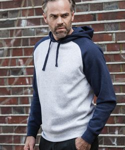 Authentic Hooded Baseball Sweat in Light Oxford (Heather)