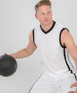 Basketball Men`s Quick Dry Top in Black