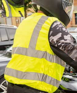 Biker Safety Vest EN ISO 20471 in Signal Yellow