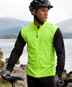 Bikewear Crosslite Gilet in Neon Lime