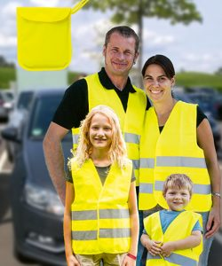 Car Safety Vest Family Pack EN ISO 20471 in Signal Yellow