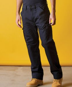 Classic Fit Workwear Trousers in Black