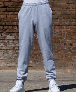 College Cuffed Jogpants in Charcoal (Heather)