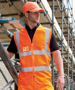 Core Zip Safety Tabard in Fluorescent Orange