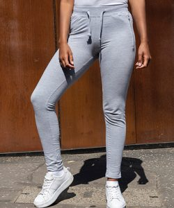 Girlie Tapered Track Pant in Heather Grey