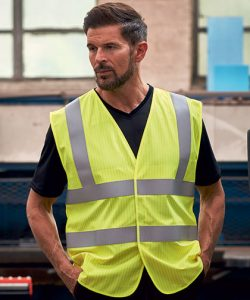Hi-Vis Anti-Static Flame Retardant Waistcoat in Hi-Vis Orange