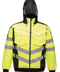 Hi-Vis Pro Bomber Jacket in Yellow