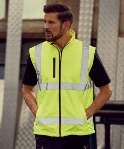 Hi Vis Softshell Gilet in Hi-Vis Orange