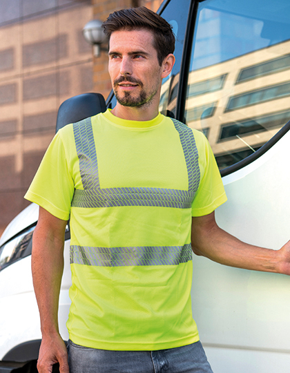 Hi-Viz Broken Reflective T-Shirt EN ISO 20471 in Signal Yellow