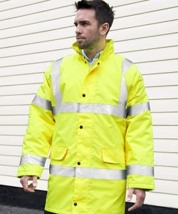 Hi Viz Motorway Coat in Fluorescent Orange