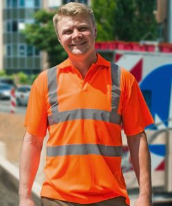 Hi-Viz Polo Shirt Basic EN ISO 20471 in Signal Orange