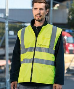 Hi-Viz Reversible Bodywarmer EN ISO 20471 in Signal Orange