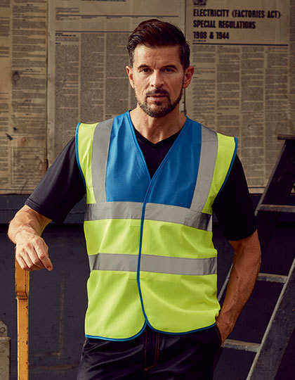High Visibility 2 Bands & Braces Waistcoat in Black