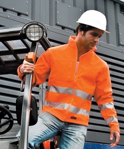 High-Viz Soft Shell Jacket in Fluorescent Orange