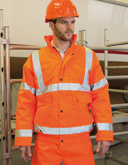 High Viz Winter Blouson in Fluorescent Orange