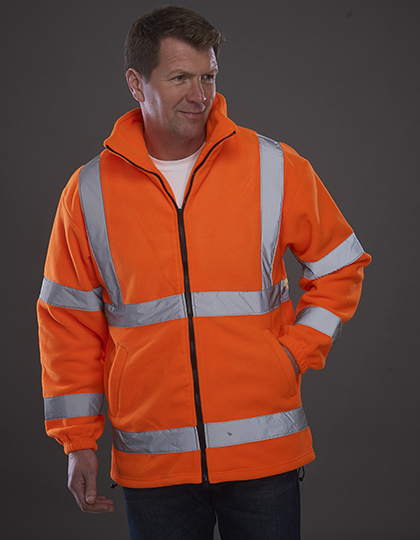 His-Vis Fleece Jacket in Hi-Vis Orange
