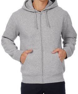 Hooded Full Zip Sweat / Men in Black