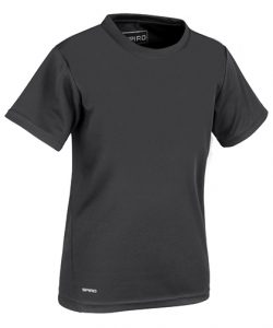 Junior Quick Dry T-Shirt in Black