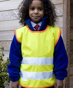 Junior Safety Tabard in Fluorescent Yellow