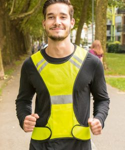 LED Running Vest for joggers in Signal Yellow