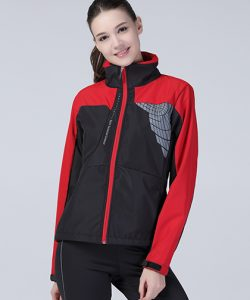 Ladies` 3 Layer Softshell Jacket in Black
