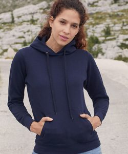 Ladies Classic Hooded Sweat in Azure Blue