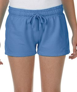 Ladies` French Terry Short in Blue Jean