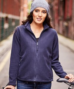 Ladies` Full Zip Outdoor Fleece in Black