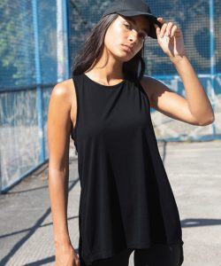 Ladies` Open Back Vest in Black