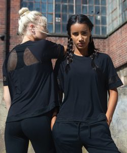 Ladies` Over T in Black