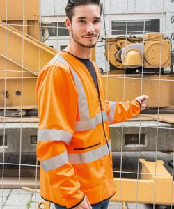 Light Weight Hi-Viz Jacket EN ISO 20471 Class 3 in Signal Orange