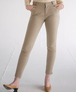 Lily Skinny Chino in Black