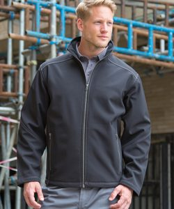 Men´s Treble Stitch Softshell Jacket in Black