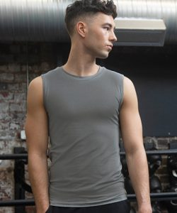 Men's Sleeveless T-Shirt in Black