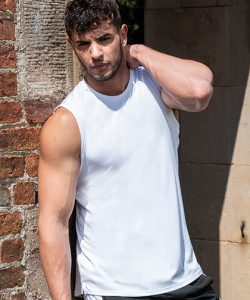 Men`s Cool Smooth Sports Vest in Sapphire Blue