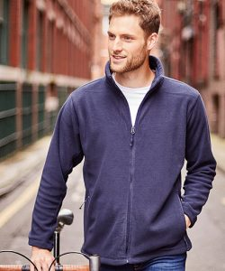Men`s Full Zip Outdoor Fleece in Black
