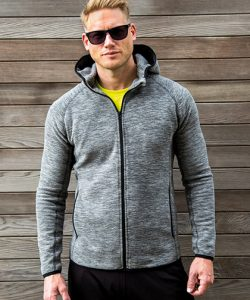 Mens Microfleece Hoodi in Grey