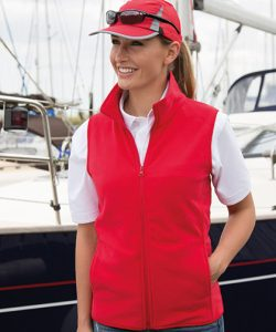 Micro Fleece Gilet in Red