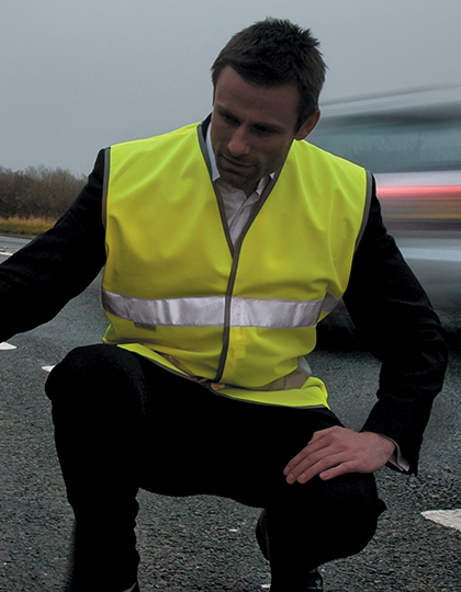 Motorist Safety Vest EN471 in Fluorescent Orange
