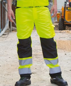 Safety Cargo Trouser in Fluorescent Orange