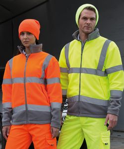 Safety Microfleece Jacket in Fluorescent Orange