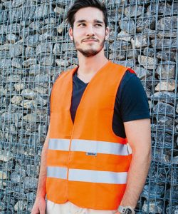 Safety Vest Professional 80/20 Polycotton in Signal Orange